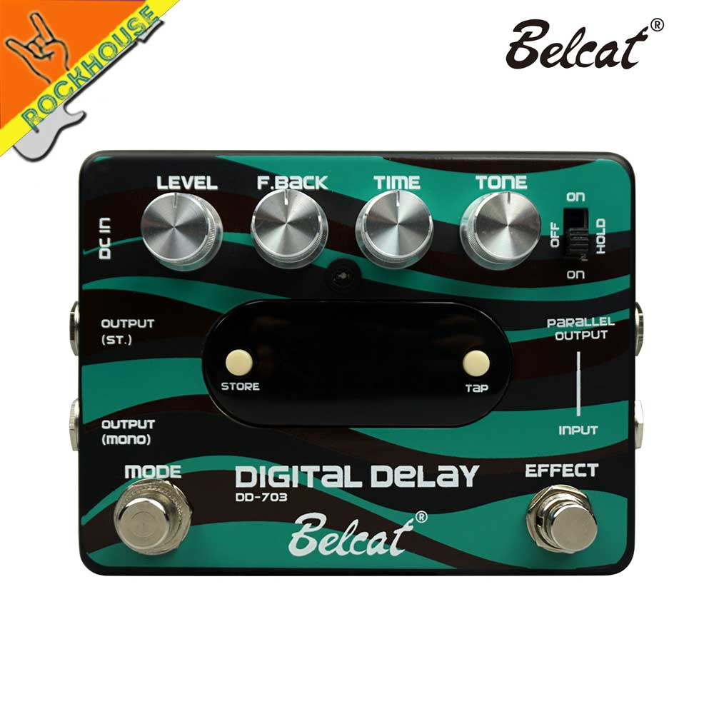 Belcat Digital Delay Guitar Effects Pedal 20ms-2500ms Delay time with Stereo Output Preset Storable True Bypass Free Shipping nux ad 3 new arrival guitar effects pedal analog delay effect 300ms max delay time warm echoes sound true bypass free shipping