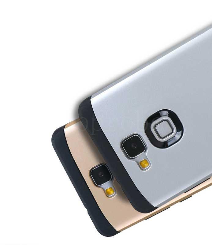 """Doppio Strato Anti-Bussare Sottile Armatura di Caso per Huawei Mate 7 6 """"Delle Cellule Del Telefono di Protezione Della Copertura Del Silicone per huwei MT7-TL00 13th + 1X Pellicola"""