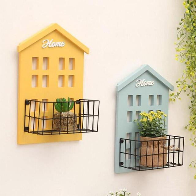 Vintage Wooden Storage Rack Retro Wood Wall Shelves Wall Hanging ...