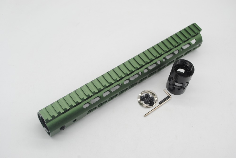 TriRock 12'' inch Olive Green Anodized Keymod Handguard Rail Free Floating Picatinny Mount System Fit .223/5.56/AR 15-in Hunting Gun Accessories from Sports & Entertainment    3