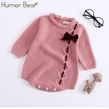 Humor Bear/ г.; осенне-зимние модели детских комбинезонов; вязаная одежда для малышей с воротником в виде листка лотоса