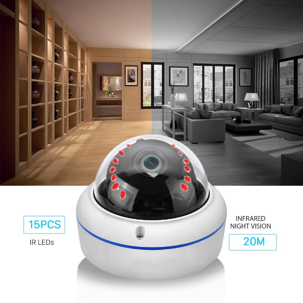 Image 3 - BESDER H.265 5MP 3MP Surveillance IP Camera Audio Internal Microphone Vandalproof  IR Night Dome Security Camera ONVIF PTP Alert-in Surveillance Cameras from Security & Protection