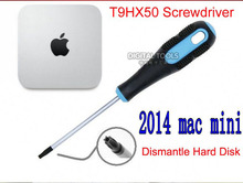 TR9 T9HX50 Torx Middle Hole Screwdriver For Dismantle Hard Disk of Apple Mac Mini Late 2014 High Carbon Steel Magnetic Precision