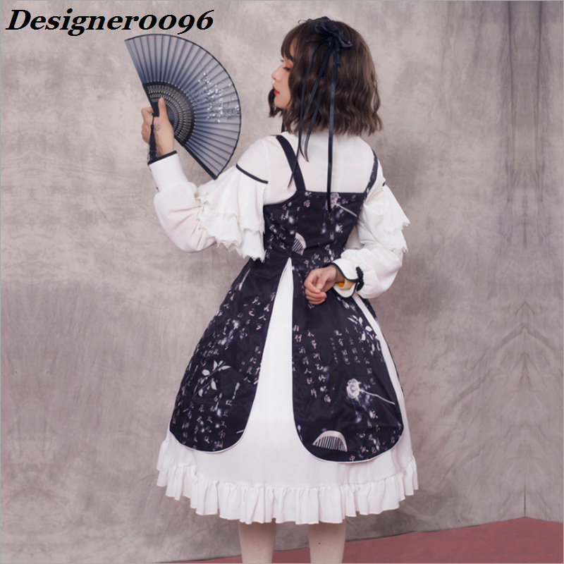 Lolita Dress Original Chinese Style Vintage Element Dark Dress Cute Japanese Sweet Halloween Costume from Woman Anime cosplay in Lolita Dresses from Novelty Special Use
