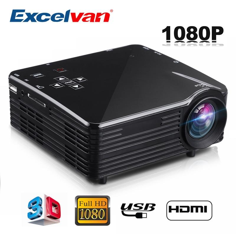 Excelvan LED1018 Mini Portable LCD Projector HDMI USB VGA AV SD Multimedia Interfaces Max 1080P Movie Home Cinema PK YG300 YG310 dual hdmi sd usb av vga video movie proyector full hd easy micro projector emp gp8s lcd mini portable 4k