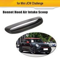 Углеродное волокно капот вентиляционные отверстия Передняя решетка для мини JCW 2014-2018 добавить на держатель для фото отделка