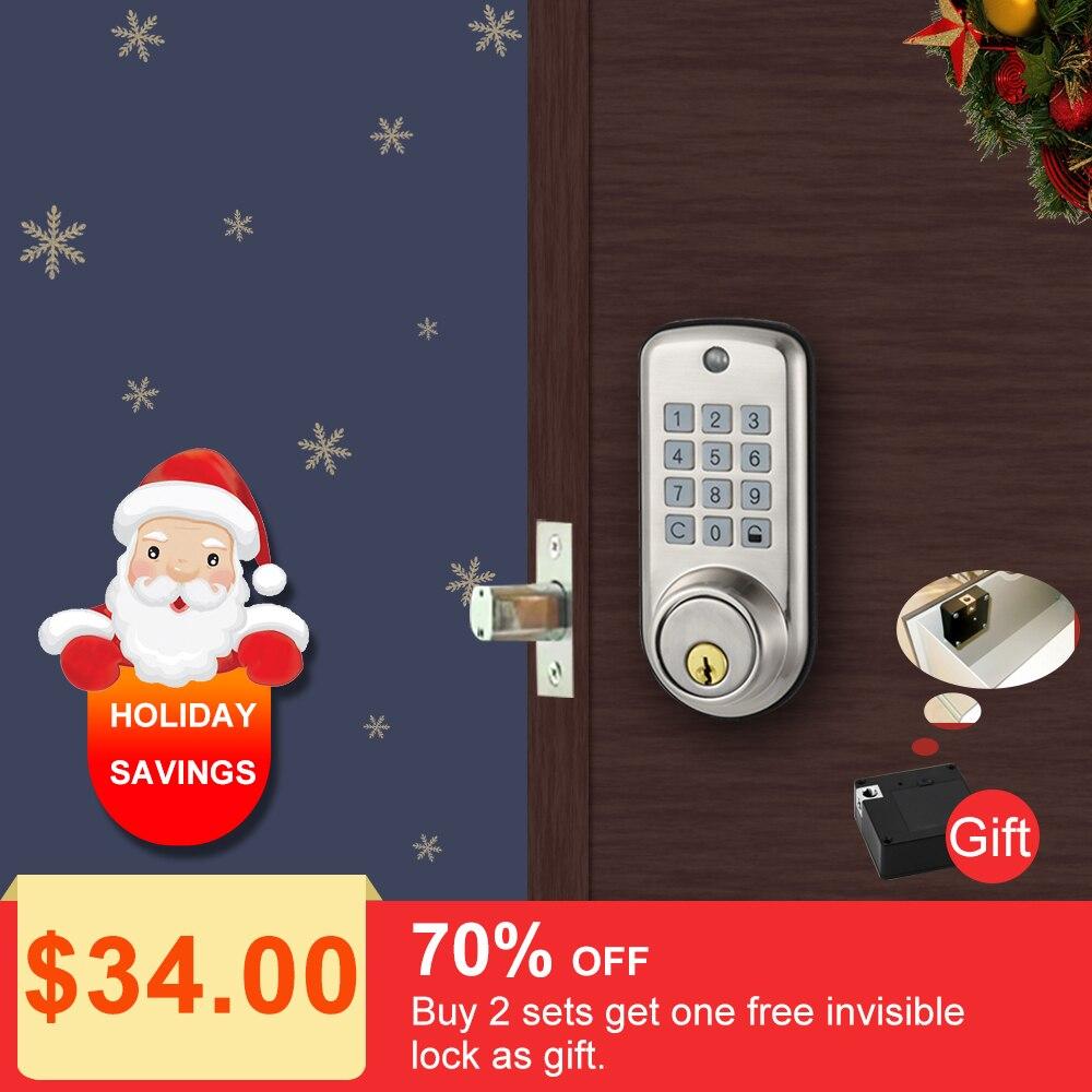 Дешевый умный дом цифровой дверной замок, водостойкий умный Keyless Пароль Pin-код дверной замок электронный засов-замок