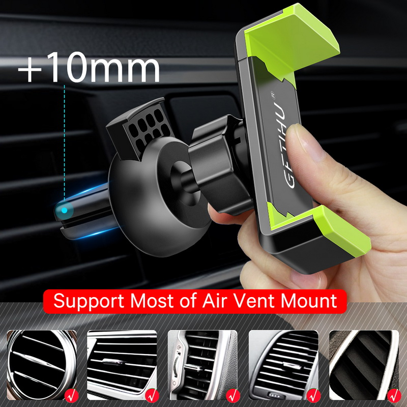 HTB17WYZXsnrK1RkHFrdq6xCoFXaW - GETIHU Car Phone Holder For iPhone X XS Max 8 7 6 Samsung 360 Degree Support Mobile Air Vent Mount Car Holder Phone Stand in Car