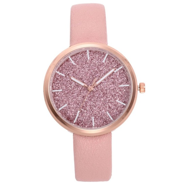 2018 Luxury Brand Women Watches Personality Romantic Wrist Watch Leather Rhinest