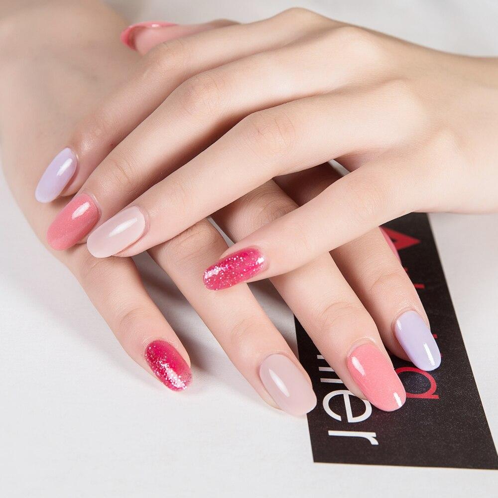 ZD 6 unids pelar Esmaltes de uñas smalto unghie 6 diferentes colores Clavos arte polaco esmalte de unas Stempel nagellak pb06
