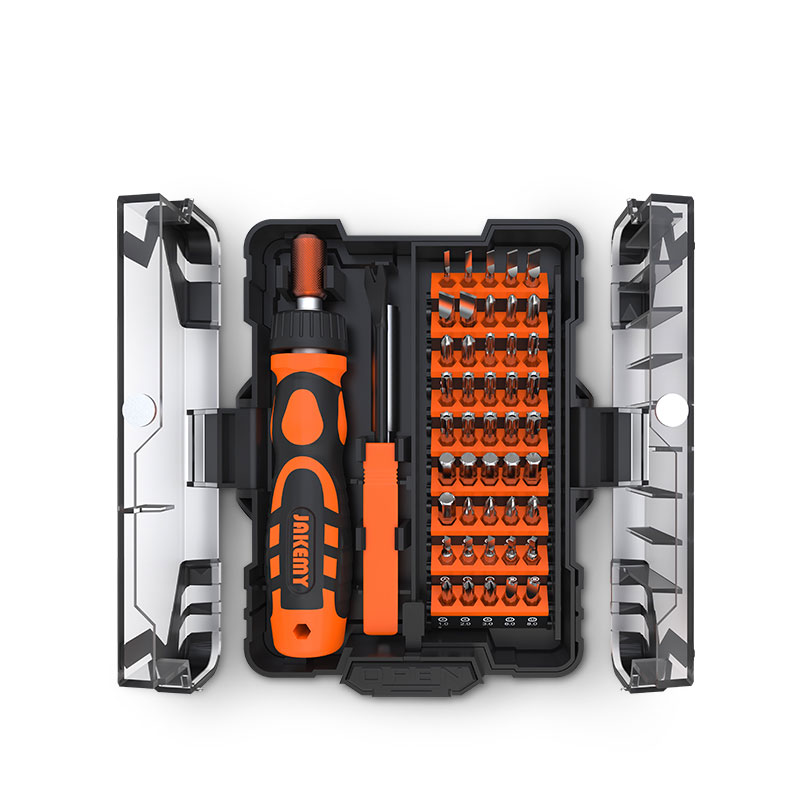 JAKEMY NEW PRODUCT JM-6124 Precision Mini Screwdriver Set With Adjustable Labor-saving Ratchet Handle For Household DIY Repair