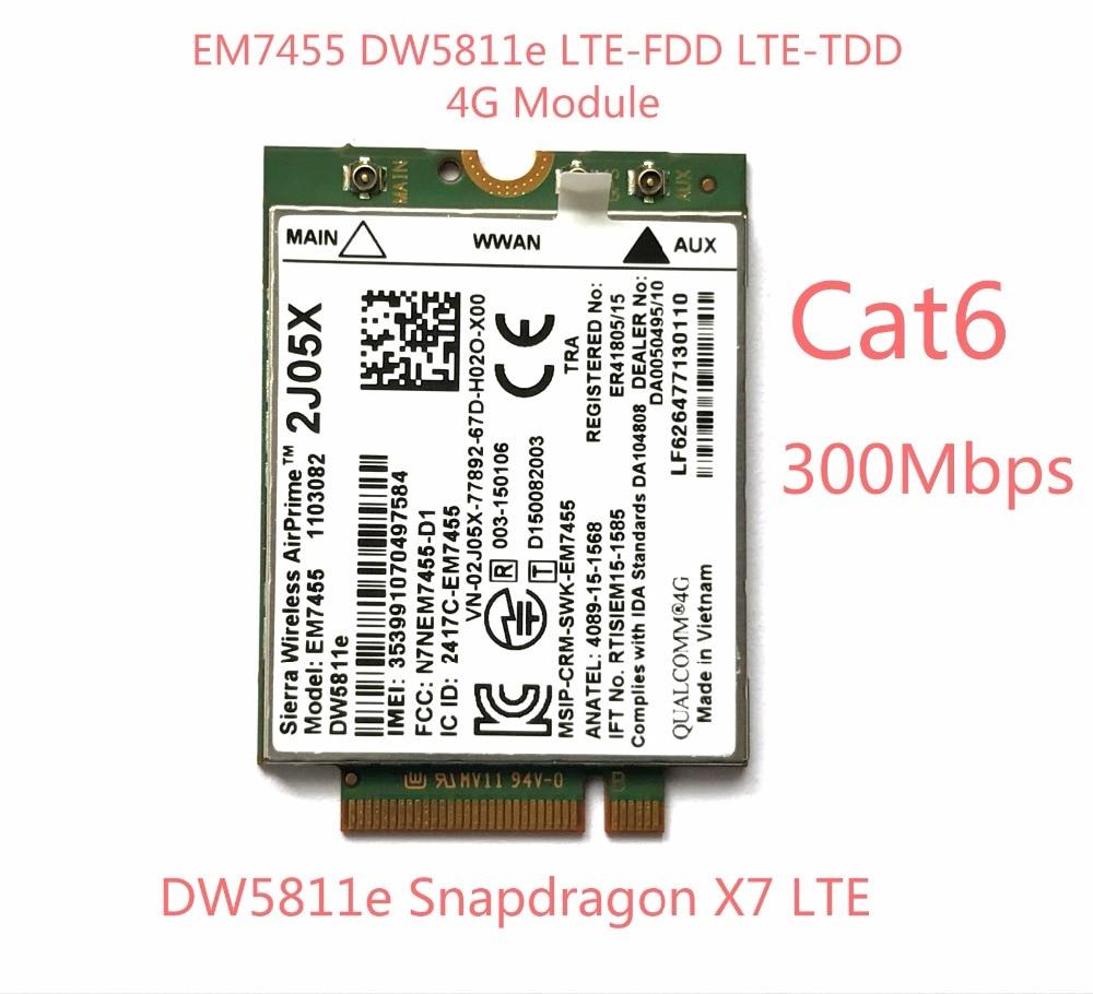 Здесь продается  New EM7455 DW5811E PN 2J05X FDD/TDD LTE CAT6 4G Module 4G Card for E7270 E7470 E7370 E5570 E5470  Компьютер & сеть