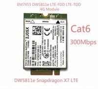 New EM7455 DW5811E PN 2J05X FDD TDD LTE CAT6 4G Module 4G Card For E7270 E7470