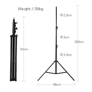 Image 3 - Godox 2.8 m 280 cm 9FT Pro Heavy Duty lekki statyw dla fresnela wolframu światła stacji telewizyjnej Studio Photo Studio statywy