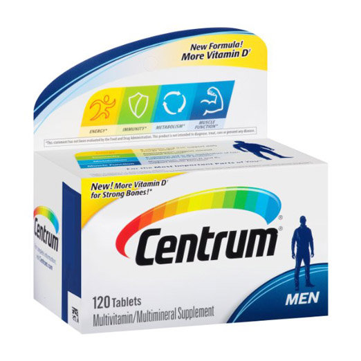 Centrum Ultra Men Multivitamin/multimineral Supplement 120 Pcs Free Shipping free shipping ultra mega gold multivitamin 90 caplets