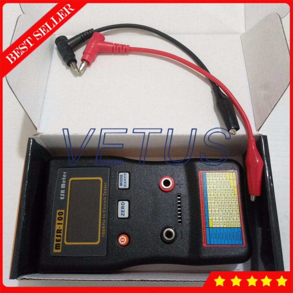 High Precision ESR Tester MESR-100 Professional Resistance Capacitor Circuit Meter high quality esr v5 esr meter capacitor tester lcr meter internal resistance meter test in circuit