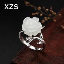 100% Genuine S925 Sterling Silver Chinese Style Hand Made Hetian Jade Rings Women Luxury Valentine's Day Gift Jewelry JZCN-18003 цена 2017