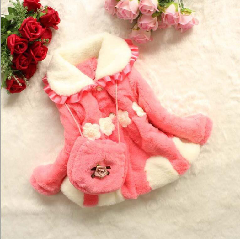 Wnter New Girls Coat Fake Fur Vetement Enfant Fille Coral Cashmere Downy Childrens Coat  ...