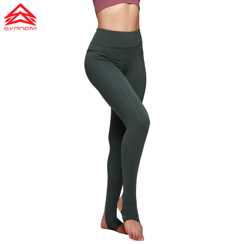 Syprem yoga leggings foot pants women fitness Leggings Training Trousers Hip Raise Stitching Design Long Slim Leggings,MS0009 active plain design stitching design gym leggings in purple