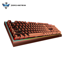 Machenike K1-C1C Gaming Mechanical Keyboard RGB Backlight Cherry MX Blue Switch Wired Keyboard 104 Keys Anti-Ghosting Waterproof