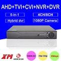 1080 P Câmera de CCTV 2mp 1080N 8CH/4CH Gravador de Vídeo Vigilância Híbrido Coaxial 5 em 1 CVI TVI NVR AHD DVR Livre grátis