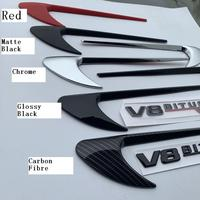 20pairs/lot ABS Leaf Board Side Embleme C Class E Class E300 Refitted Badge Emblem Stickers(with V8biturbo 4matic+ Set)