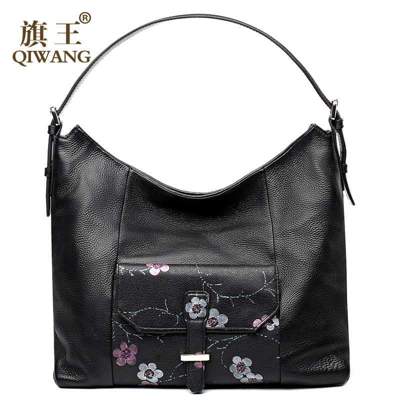Vintage Floral Hobo Bag Paris Designer Women Handbag Soft Cow ...