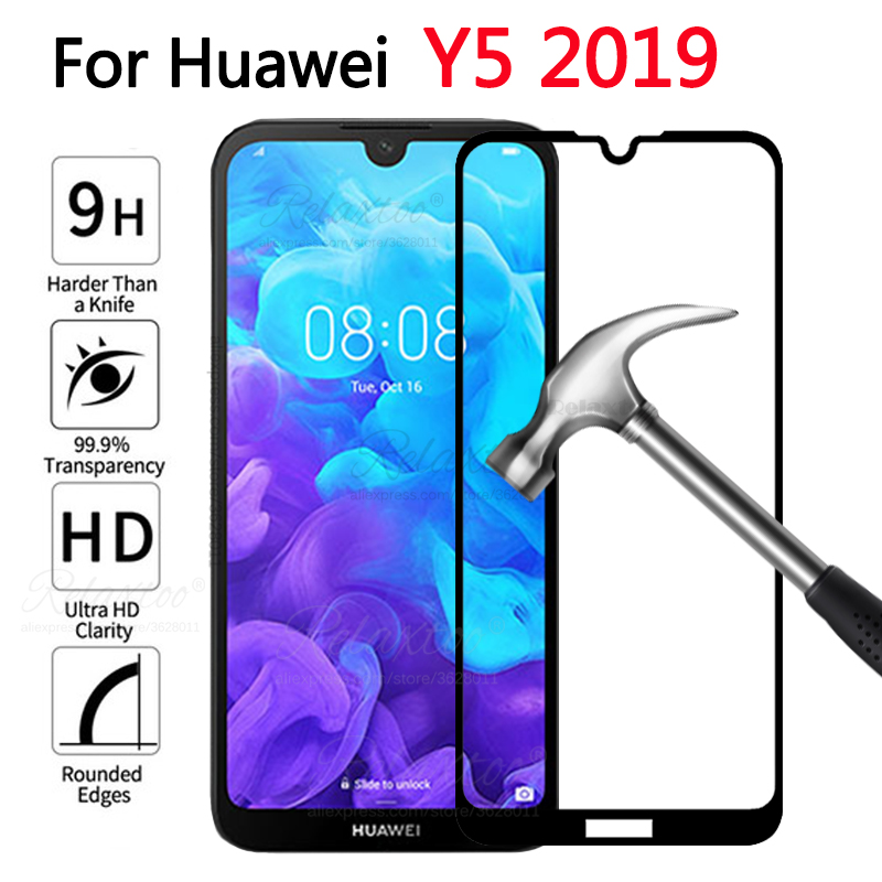 For Huawei Y5 2019 Glass Screen Protector Tempered Glass For Huawei Y5 2019 AMN-LX1 AMN LX1 Y 5 2019 Y52019 Protective Glas Film