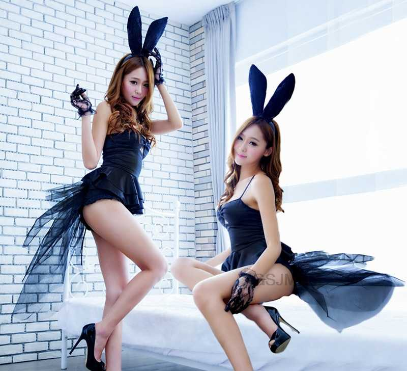 Rabbit Girl Cosplay Babydoll role-playing Rabbit girl sexy uniform Erotic Lingerie sexy bunny costumes Party Uniform Lingerie