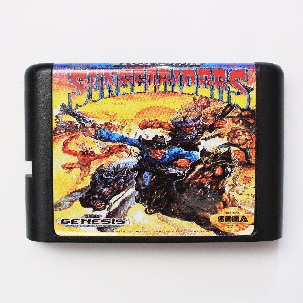 Sunsetriders 16 bit SEGA MD Game Card For Sega Mega Drive For Genesis