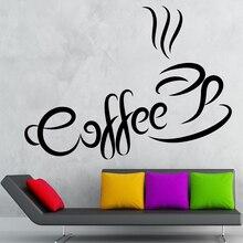 Vinyl Wall Decals Coffee Beverage Shop Bar Restaurant Home Decorative Stickers Studio Interior Design Art Murals JG1265