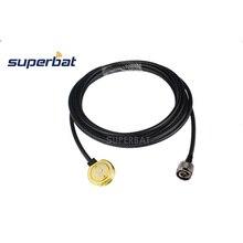 """Superbat Veicolo Antenna NMO Montare 3/4 """"Foro Con 500 centimetri RG58 Cavo N Type Spina Maschio Connettore"""