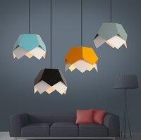 Геометрический подвесной светильник люстры Nordic подвеска Geometrique лампа Цвет Ресторан арт шнур творческий
