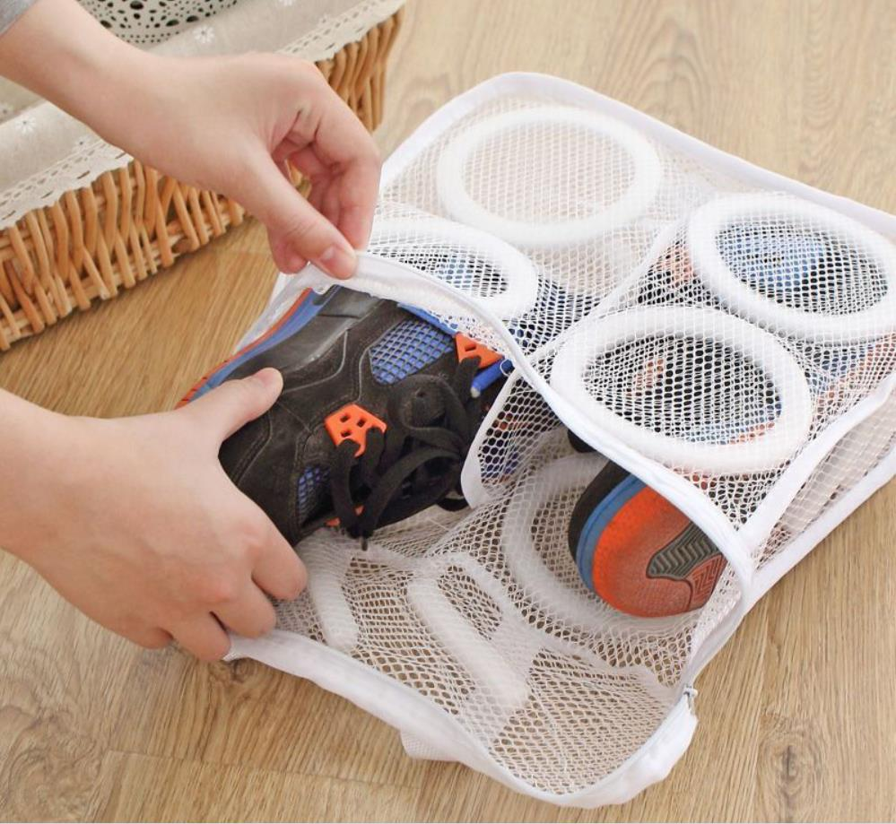 Laundry Bags Sneaker Trainer Sports Shoes Boot Washing Bag Laundry Protect Zipper Net Laundry Storage Bags