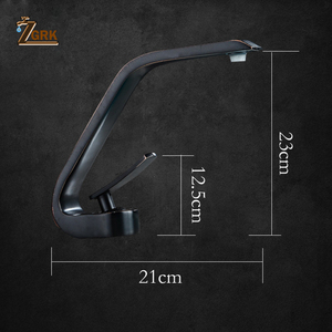 ZGRK смесители для умывальника, Современный Смеситель для ванной комнаты, черный кран для умывальника, с одной ручкой, с одним отверстием, эле...