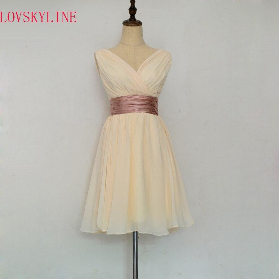 Robe De Roiree Double Shoulder Simple Solid Color Pleat Chiffon short   Evening     Dresses   Mother Of The Bride   Dress