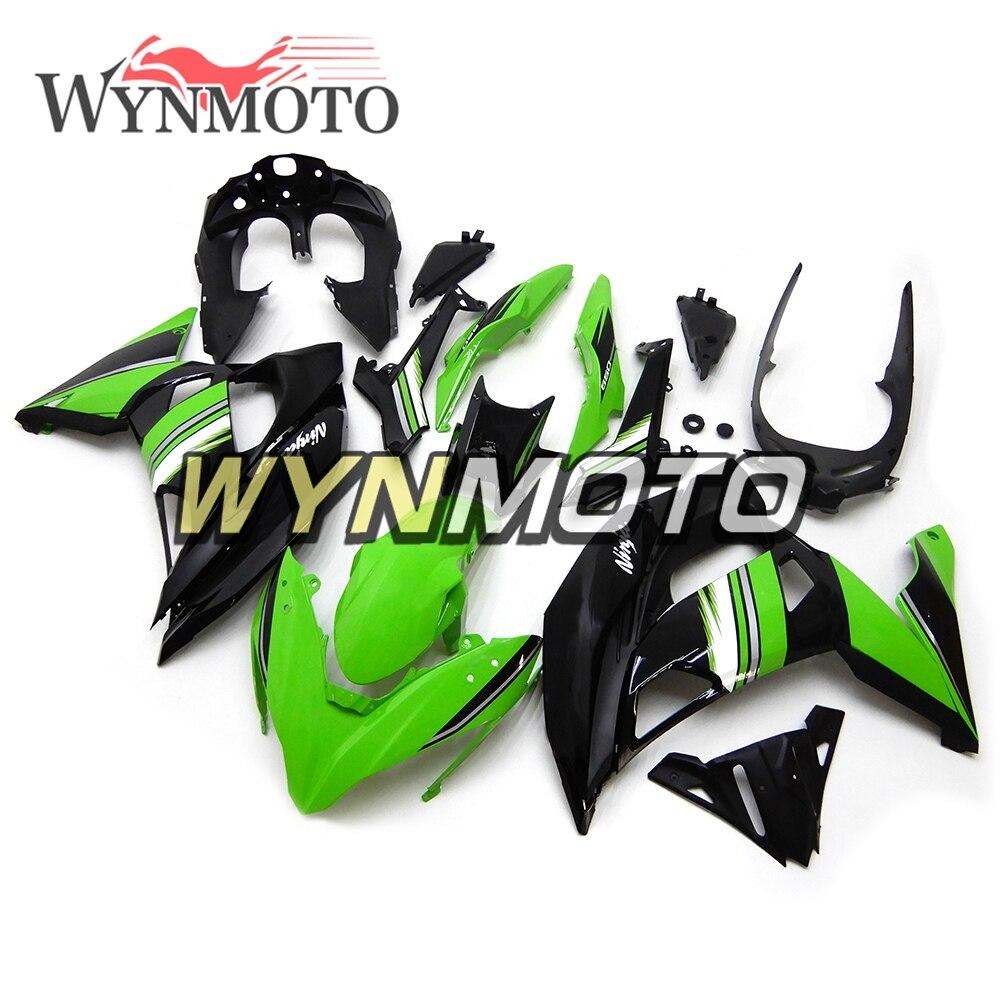 Полный мотоцикла Обтекатели для Kawasaki Ninja 650r ER 6F 2017 Gloss зеленый черный Новый ABS Пластик Инъекции обтекатель комплект капоты