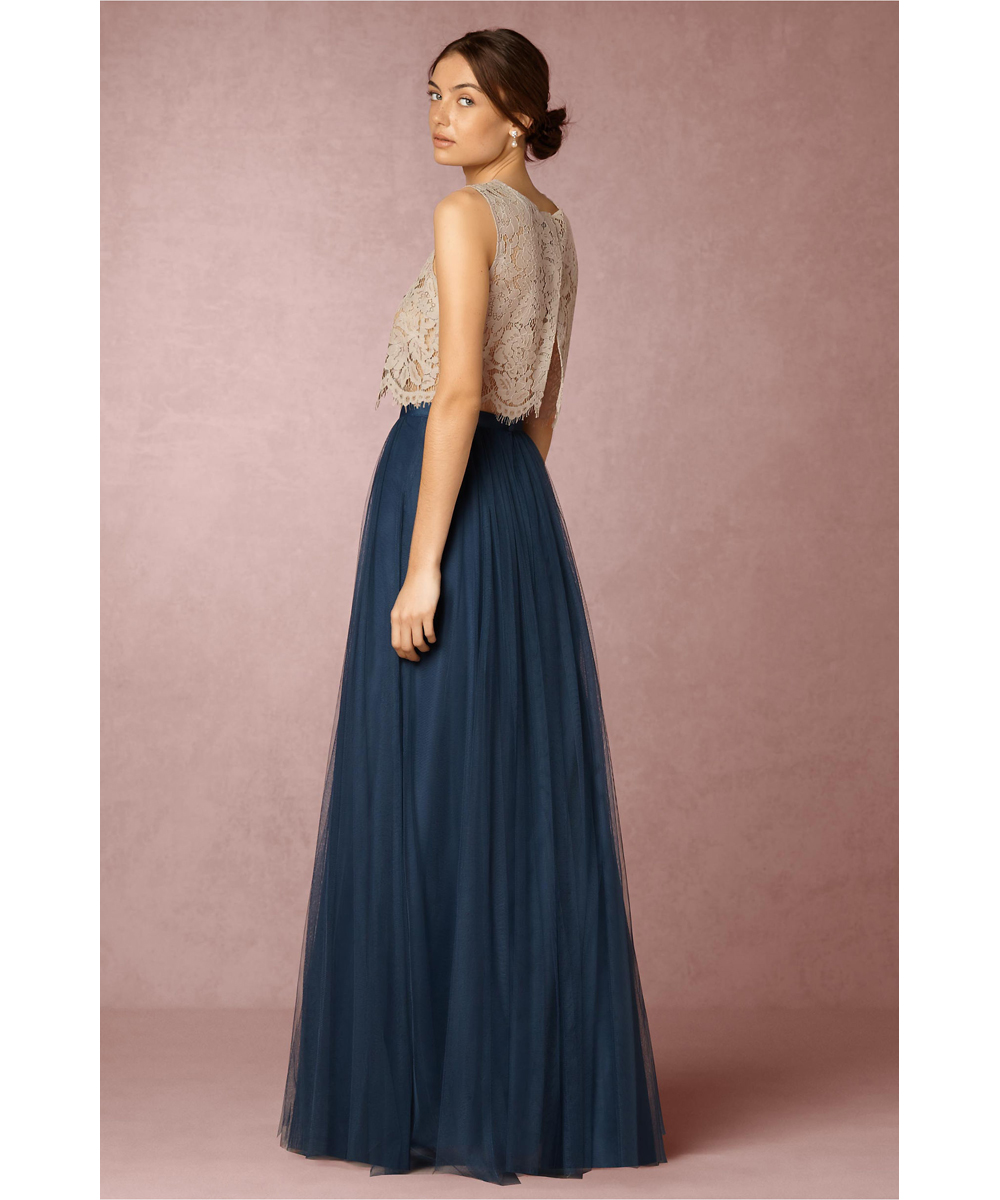 Navy bridesmaid dresses two pieces pleats tulle bottomlace top navy bridesmaid dresses two pieces pleats tulle bottomlace top long bridesmaid dresses abendkleider robe demoiselle dhonneur in bridesmaid dresses from ombrellifo Images