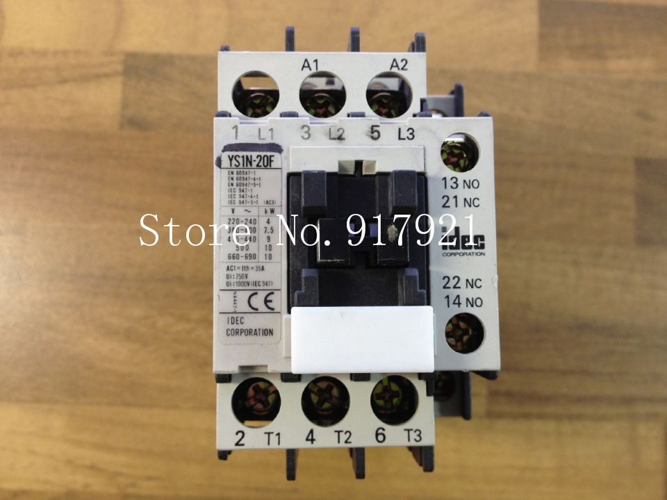 [ZOB] Japan's IDEC Idec and YS1N-20F 220V AC contactor genuine original --2pcs/lot [zob] japan s yaskawa h1 7e5ns 220v 4a 20a yaskawa ac contactor genuine original 3pcs lot