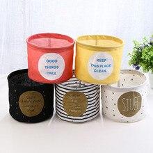 Фотография Cute Printing Cotton Linen Desktop Storage Organizer Sundries Storage Box Cabinet Underwear Storage Basket