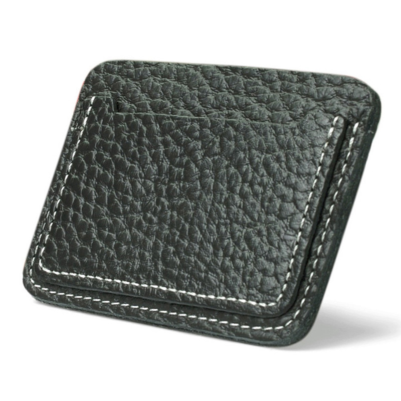 2018 small zip wallet card holder Men Leather wallets for plastic cards Clutch Coffee Black color Drop shipping