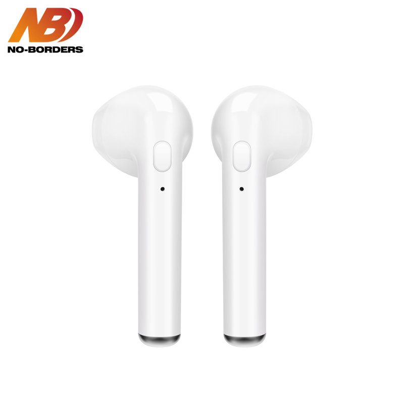 NO-BORDERS i7s TWS Bluetooth Hearphone Mini Wireless Cordless Earpiece Stereo Sport in ear Earbuds Earphone With Mic For iPhone mini tws v5 0 bluetooth earphone port wireless earbuds stereo in ear bluetooth waterproof wireless ear buds headset yz209