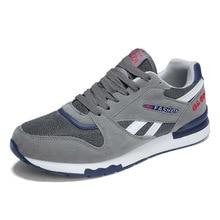 HOMASS тренд больших Размеры кроссовки мужские кроссовки 9908 обувь из дышащего сетчатого материала на открытом воздухе Мужская обувь для ходьбы черный/серый спортивная обувь