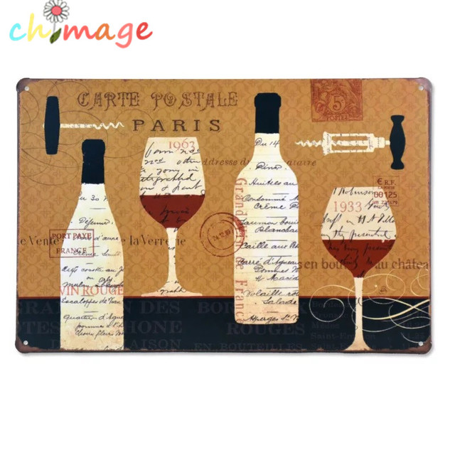 Decoration Carte Postale.Us 4 63 42 Off Carte Postale Paris Vintage Tin Sign Bar Pub Home Wall Decor Retro Metal Art Poster In Plaques Signs From Home Garden On