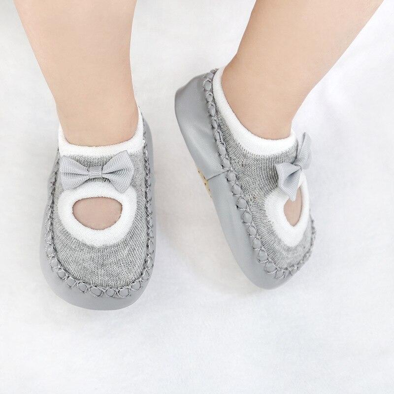 2019 New Baby Socks With Rubber Soles Infant Sock Newborn Spring Autumn Children Floor Socks Shoes Anti Slip Soft Sole Sock