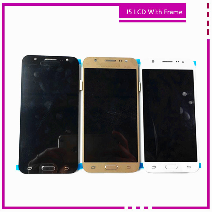5.0 White Black Golden For Samsung for Galaxy J5 J500 LCD Screen Dispaly With Touch Digitizer Bezel Frame Assembly
