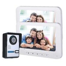 Видеодомофон проводной дверной звонок 7 дюймов монитор видео домофон система RFID доступ 1 камера+ 2 монитора домофон