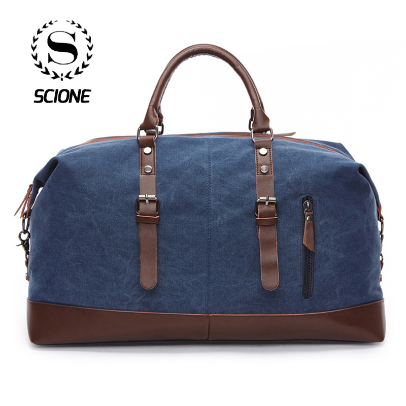 Scione Unisex Canvas Shoulder Luggage Bags Large Capacity Waterproof Handbag Business Casual Vintage Tote Bag For Men Travel qibolu vintage large capacity handbags men shoulder tote bag for travel business sacoche homme bolso hombre bolsa masculina 6002