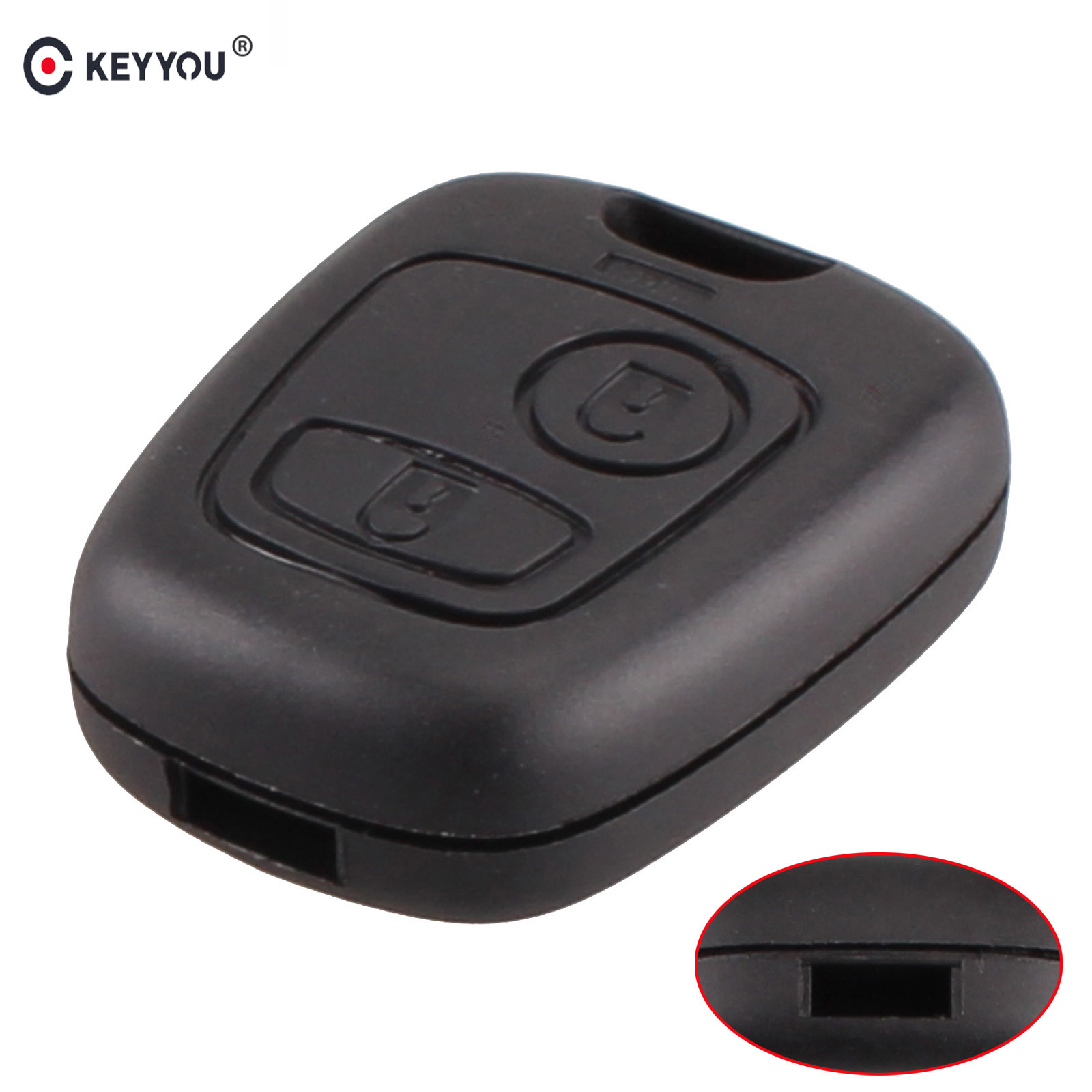 KEYYOU New Replacement 2 Buttons Remote Car Key Case Shell For Peugeot 107 207 307 407 206 306 406 Fob Cover Without BladeKEYYOU New Replacement 2 Buttons Remote Car Key Case Shell For Peugeot 107 207 307 407 206 306 406 Fob Cover Without Blade