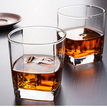 6pcs/lot 170ml Classic Whiskey Glasses Thick Bottom Whiskey Glass Clear Glass Cup for Beer Tea Wine Drinking Bar Club Glassware фото